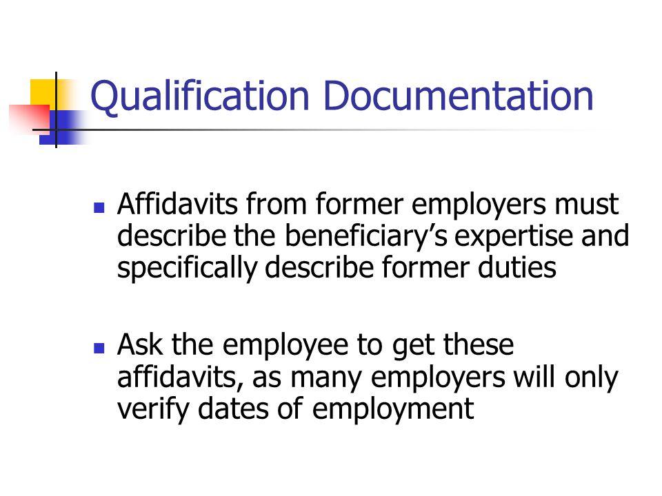 Qualification Documentation