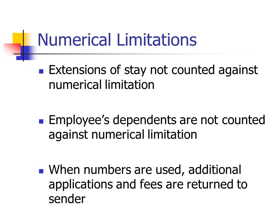 Numerical Limitations