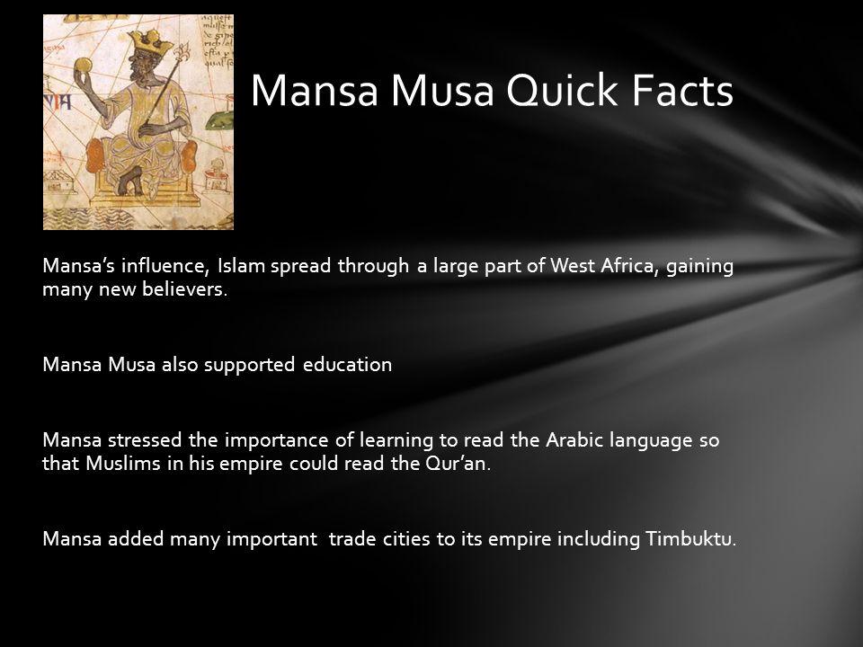 Mansa Musa Quick Facts