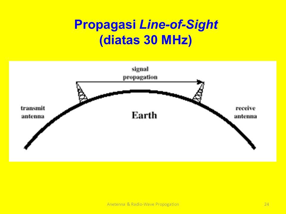 Propagasi Line-of-Sight (diatas 30 MHz)