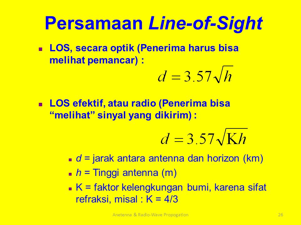 Persamaan Line-of-Sight