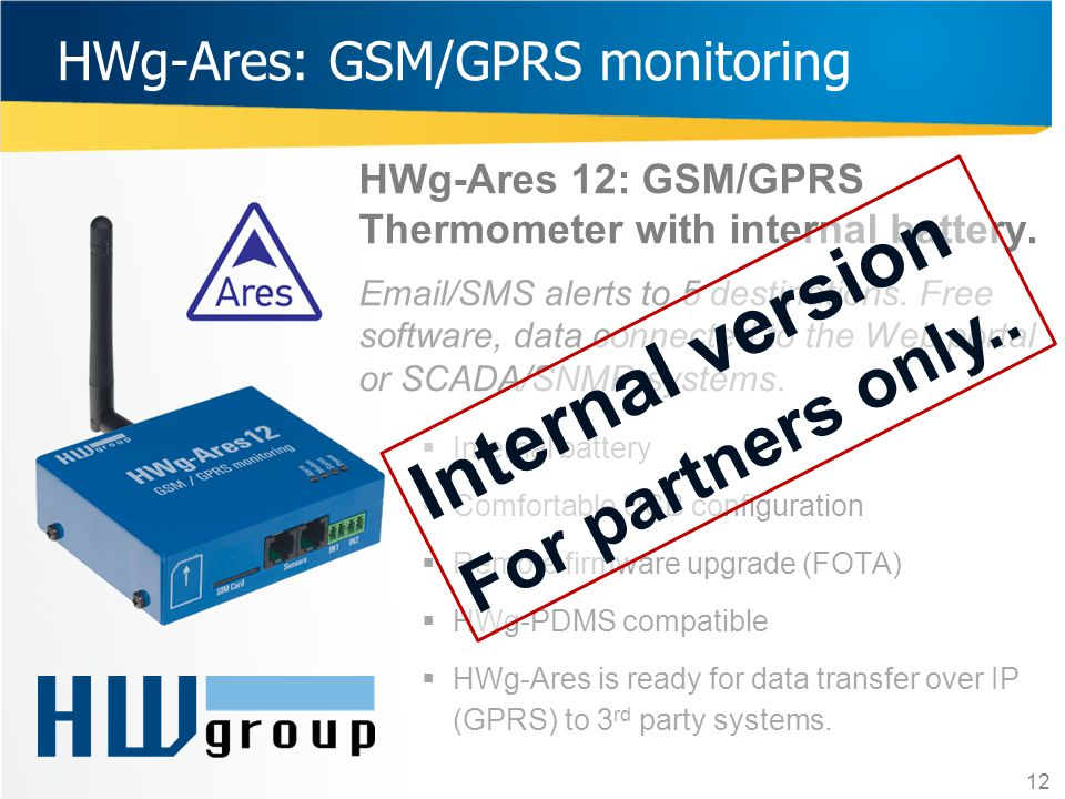 HWg-Ares: GSM/GPRS monitoring