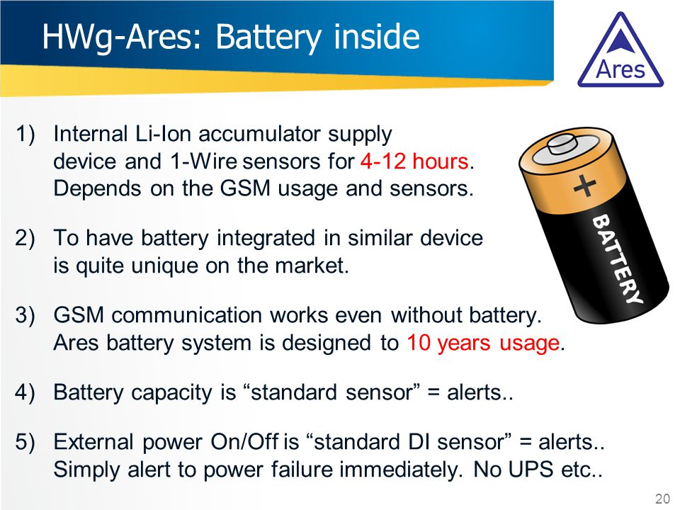 HWg-Ares: Battery inside