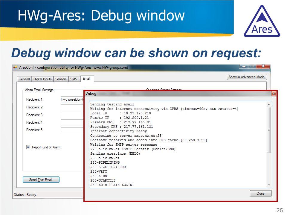 HWg-Ares: Debug window