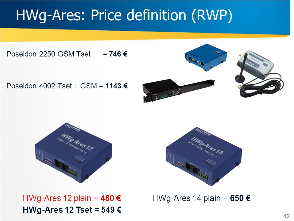 HWg-Ares: Price definition (RWP)
