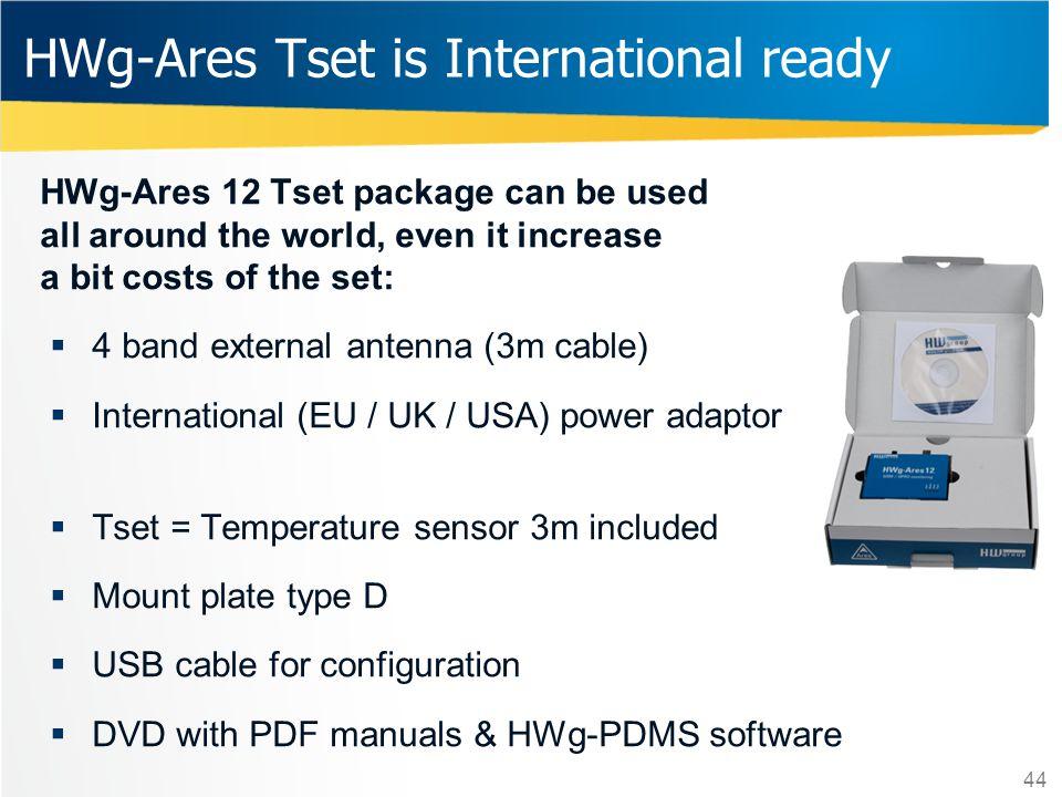 HWg-Ares Tset is International ready