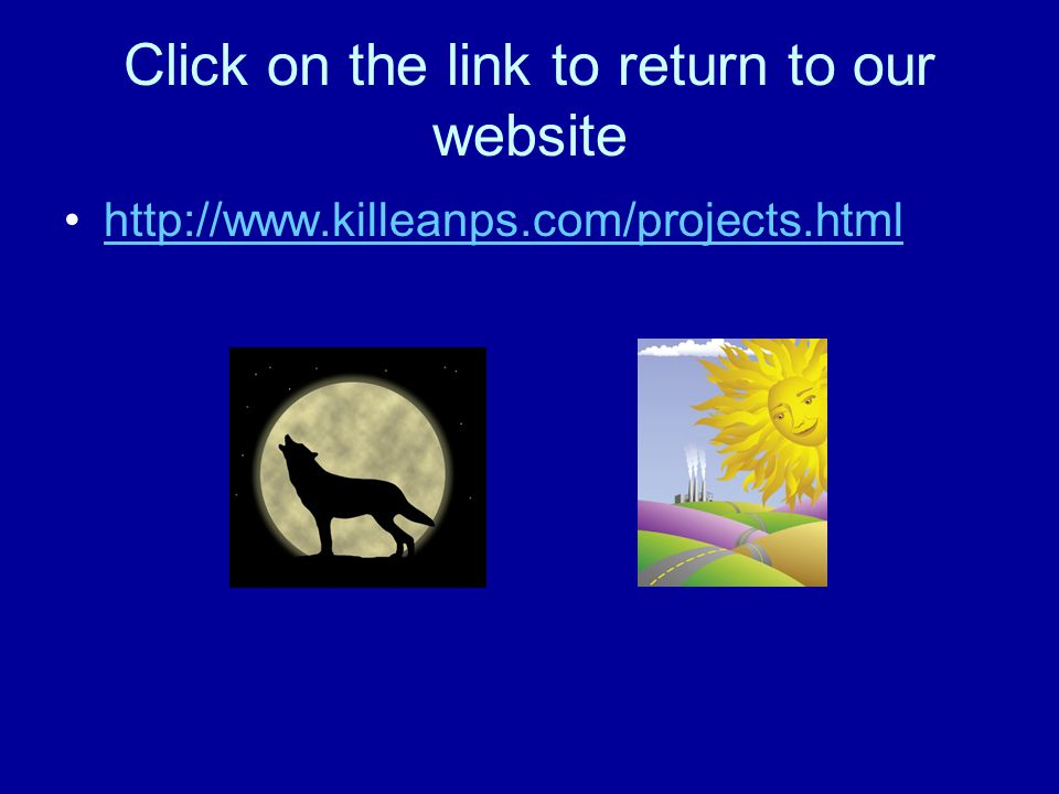 Click on the link to return to our website