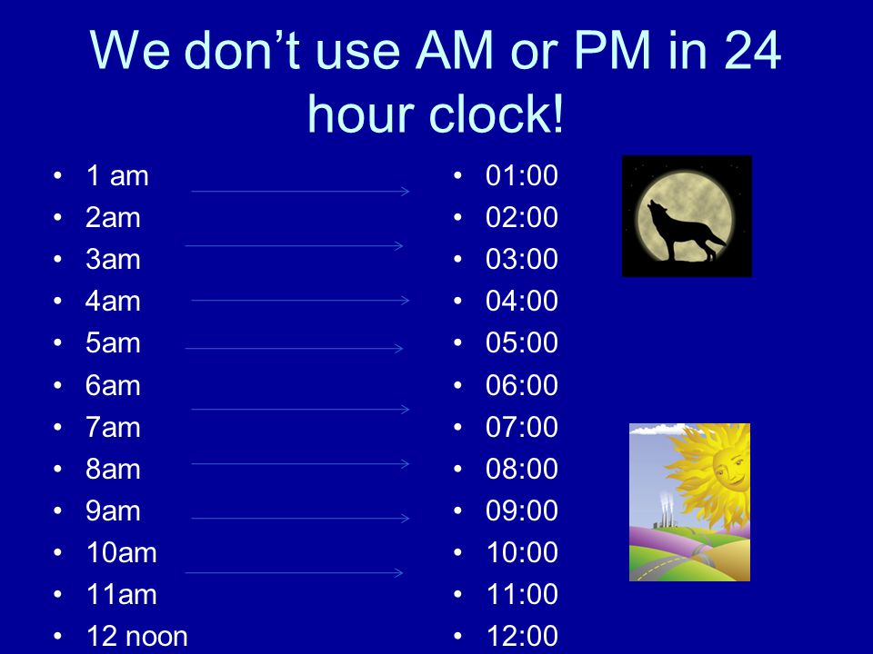 We don't use AM or PM in 24 hour clock!