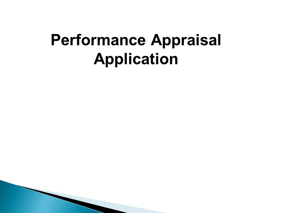 Performance Appraisal Application