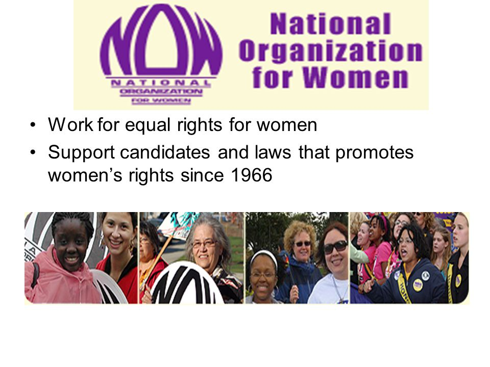 Work for equal rights for women
