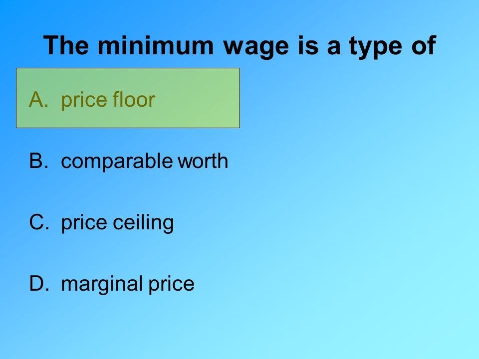 The minimum wage is a type of