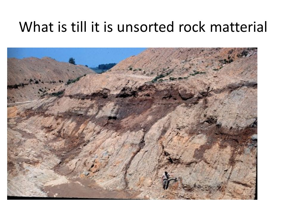 What is till it is unsorted rock matterial