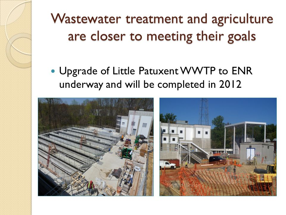 Wastewater treatment and agriculture are closer to meeting their goals