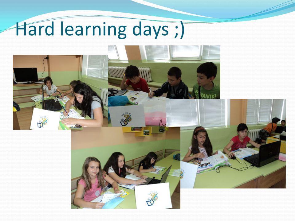 Hard learning days ;)