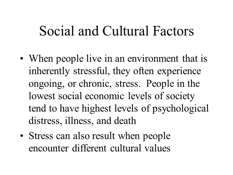 Social and Cultural Factors
