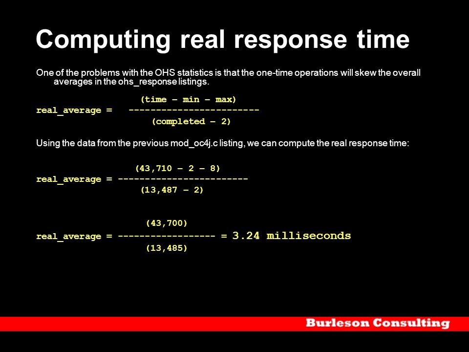 Computing real response time