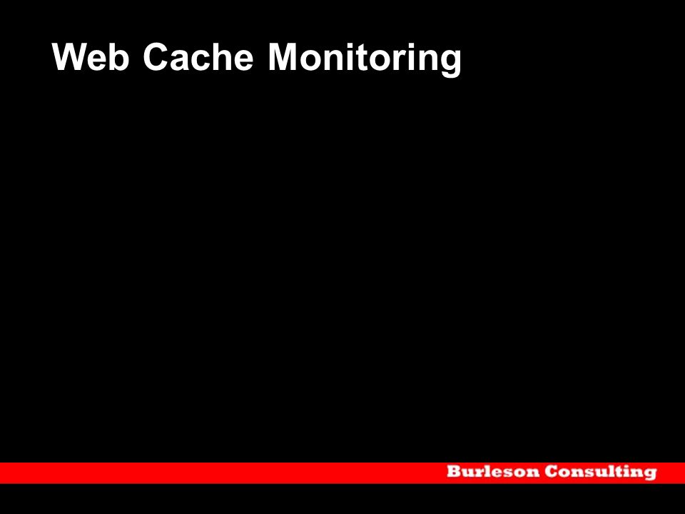 Web Cache Monitoring