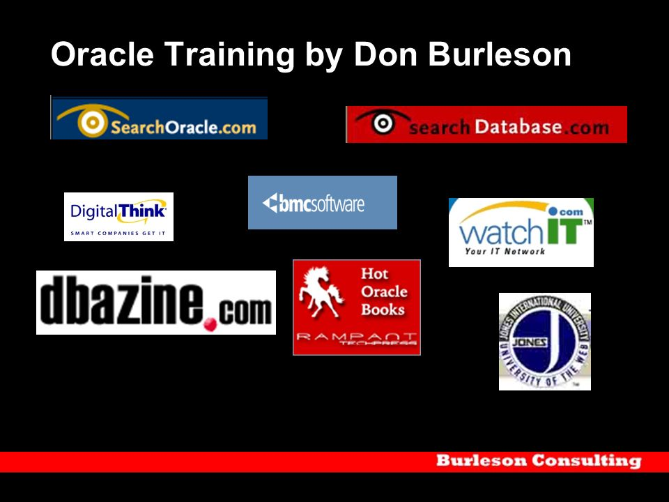 Oracle Training by Don Burleson