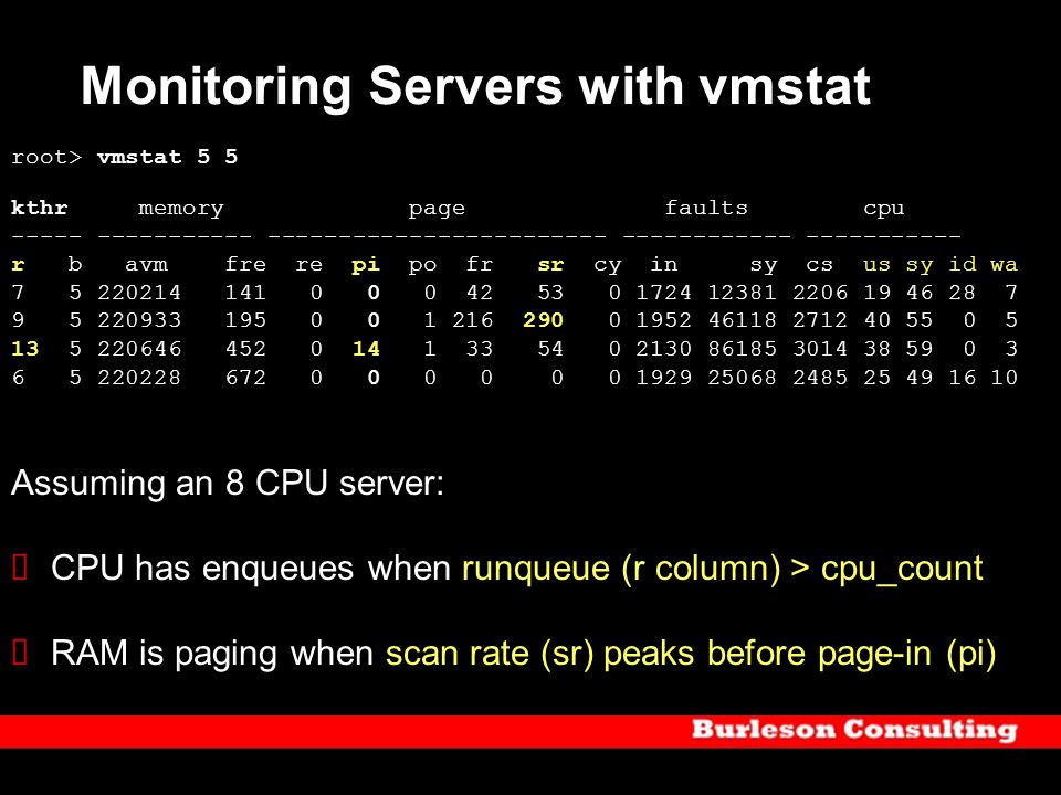 Monitoring Servers with vmstat
