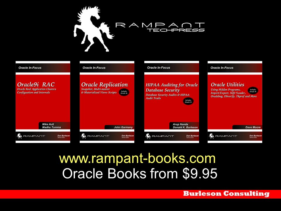 www.rampant-books.com Oracle Books from $9.95
