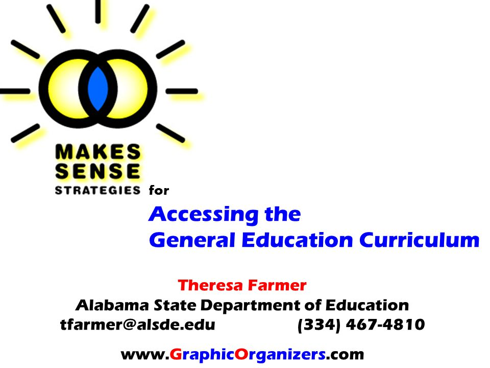 for Accessing the General Education Curriculum