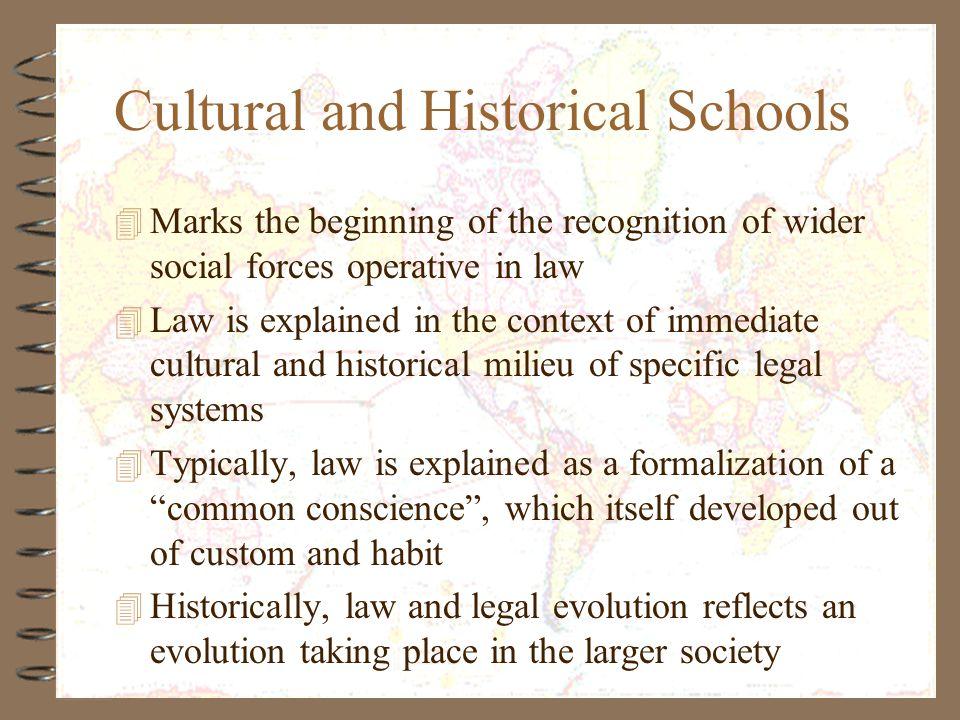 Cultural and Historical Schools