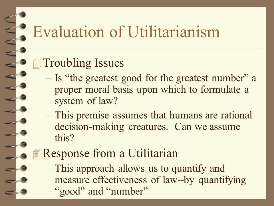 Evaluation of Utilitarianism