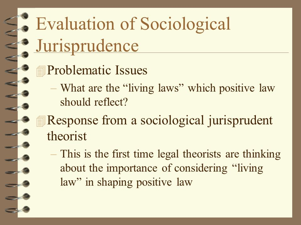 Evaluation of Sociological Jurisprudence