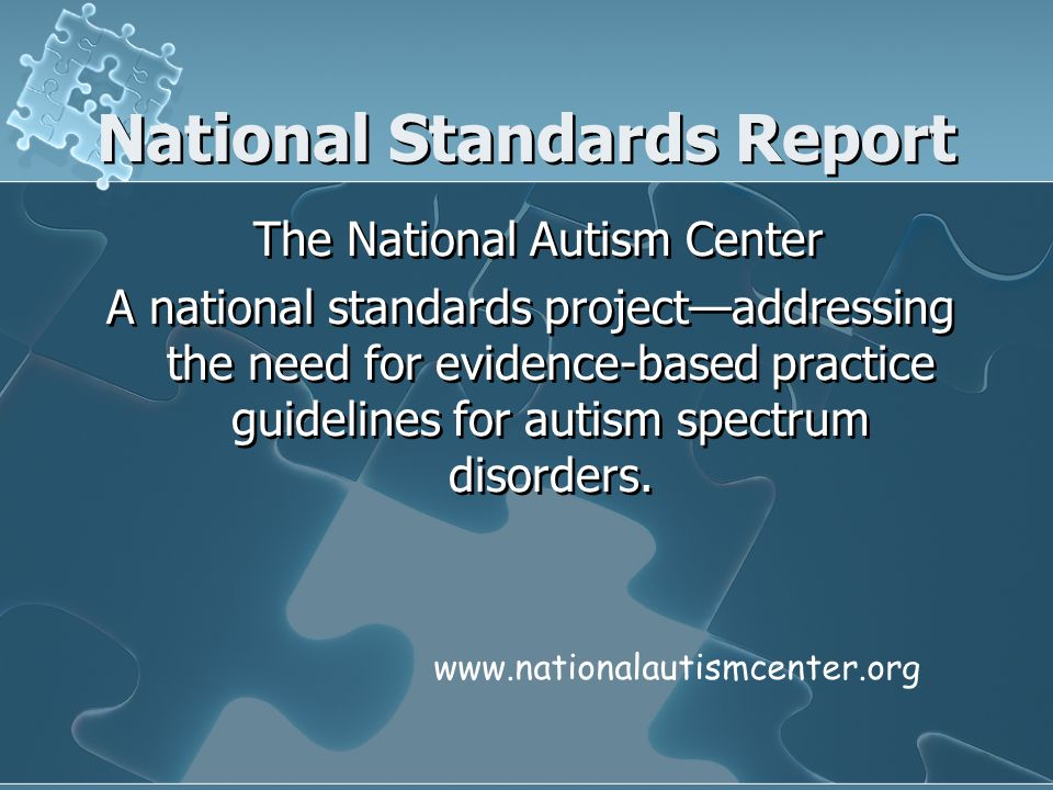 National Standards Report