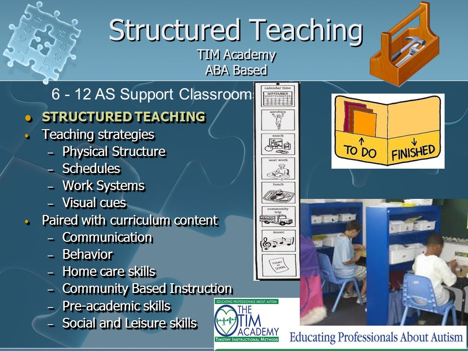 Structured Teaching TIM Academy ABA Based