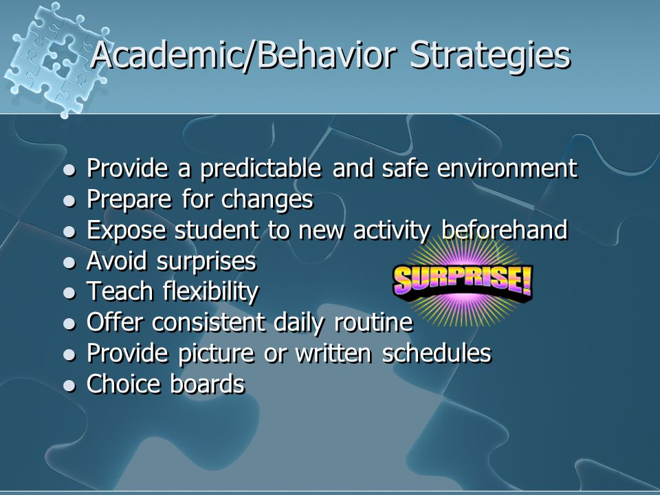 Academic/Behavior Strategies