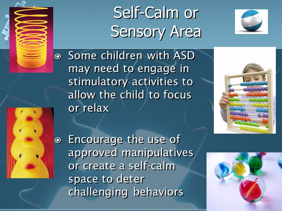 Self-Calm or Sensory Area