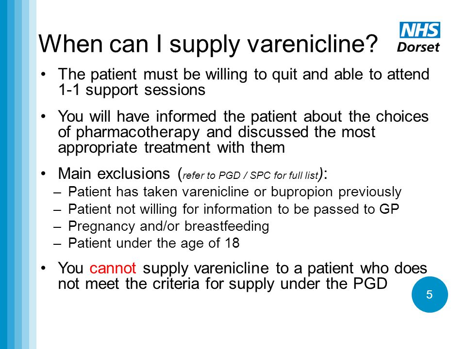 When can I supply varenicline