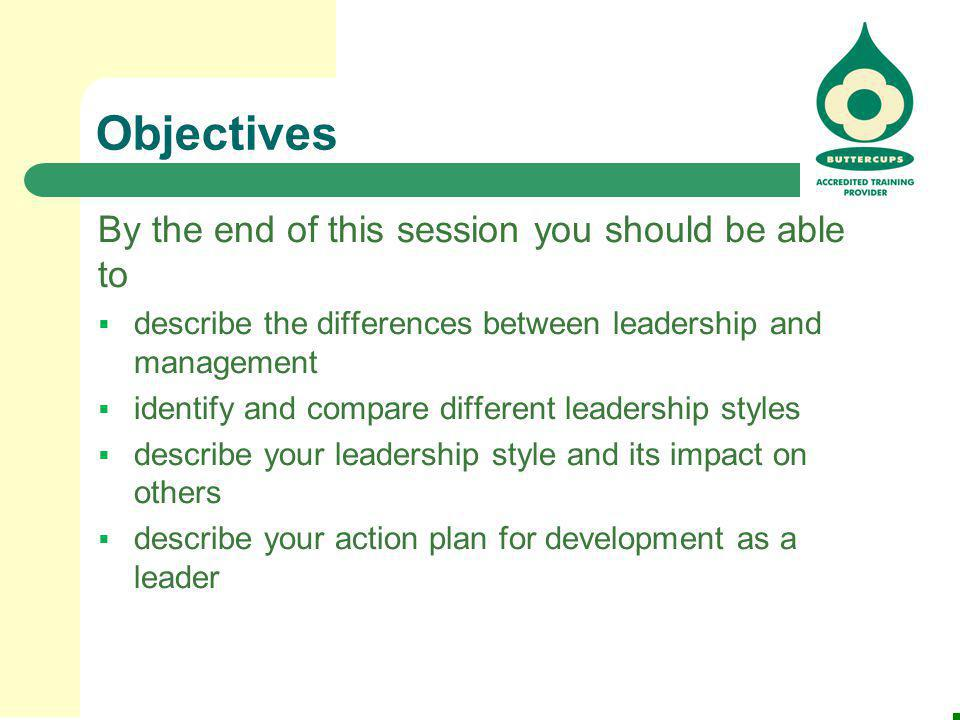 2 objectives - How Would You Describe Your Leadership Style