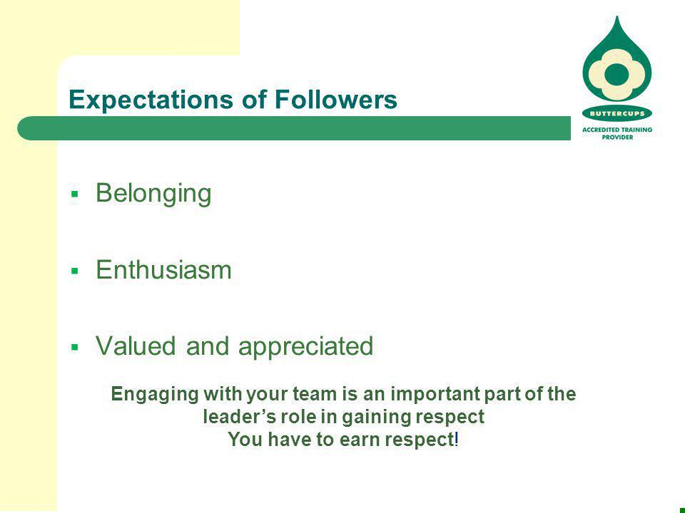 Expectations of Followers