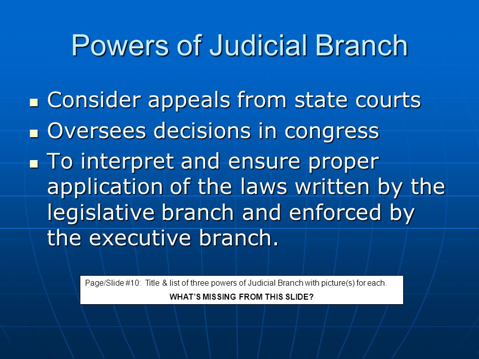 Powers of Judicial Branch