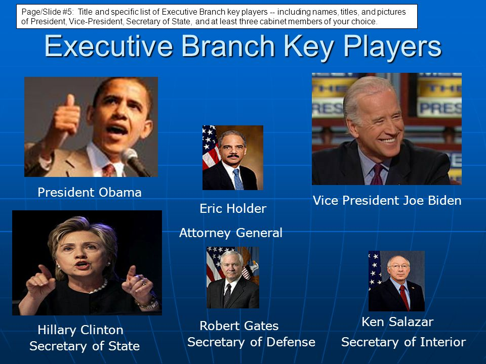 Executive Branch Key Players