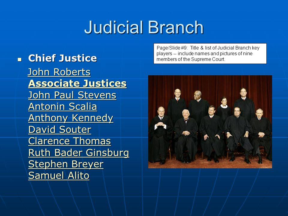 Judicial Branch Chief Justice