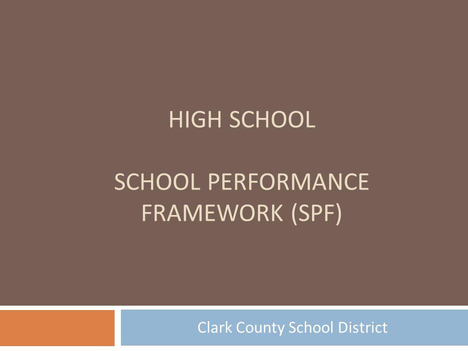 High School School Performance Framework (SPF)