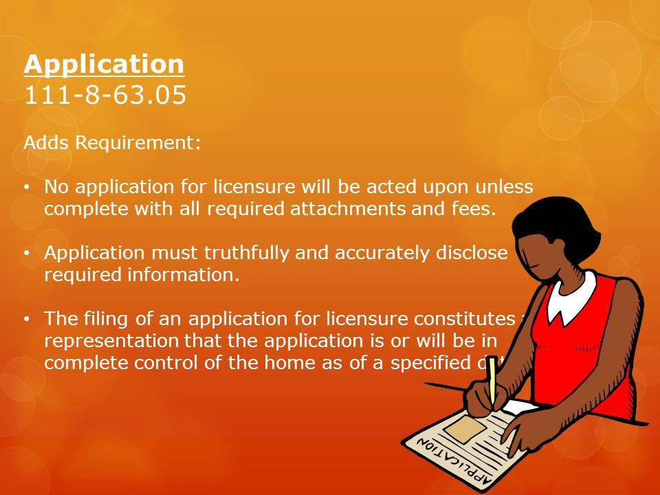Application 111-8-63.05 Adds Requirement:
