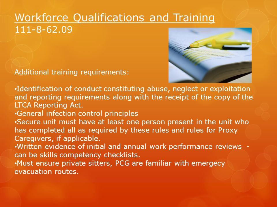 Workforce Qualifications and Training