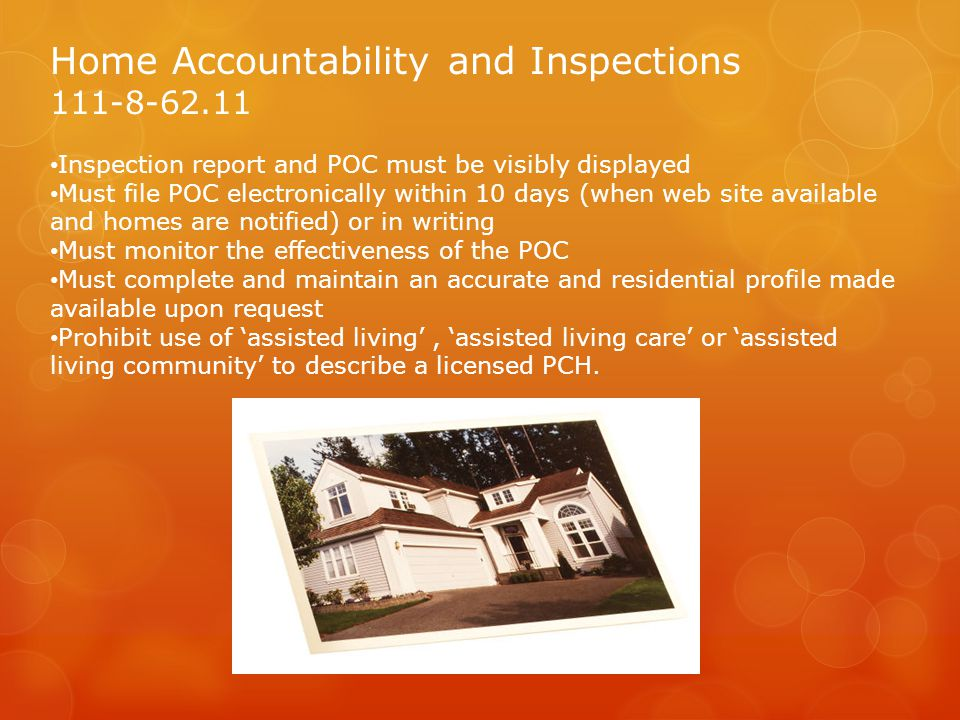 Home Accountability and Inspections