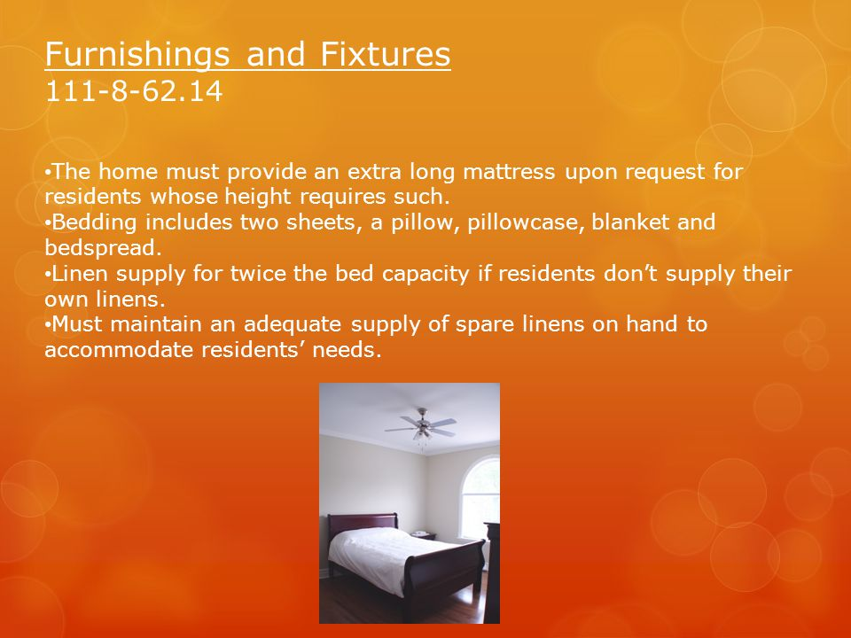Furnishings and Fixtures