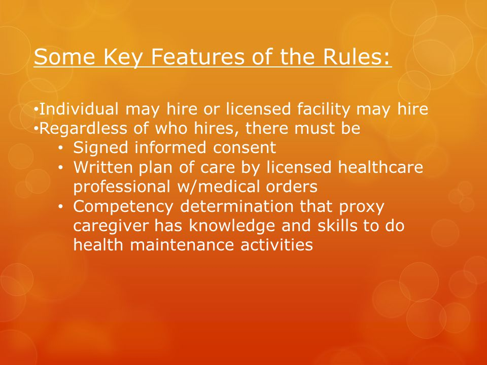 Some Key Features of the Rules: