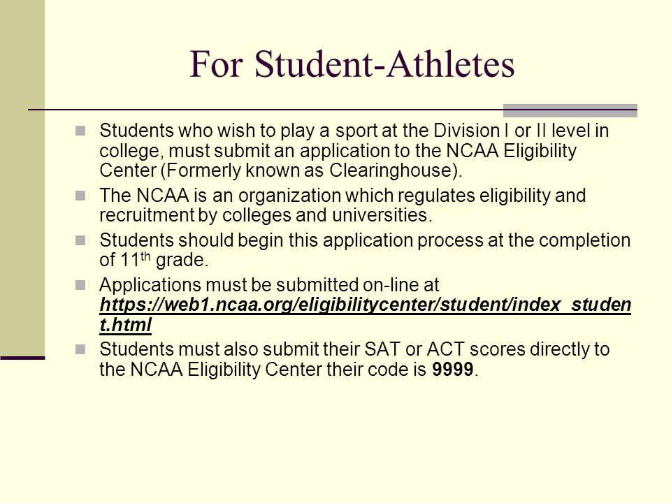 For Student-Athletes