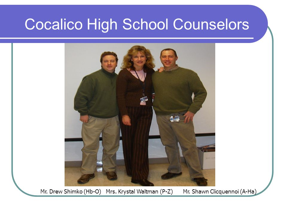 Cocalico High School Counselors