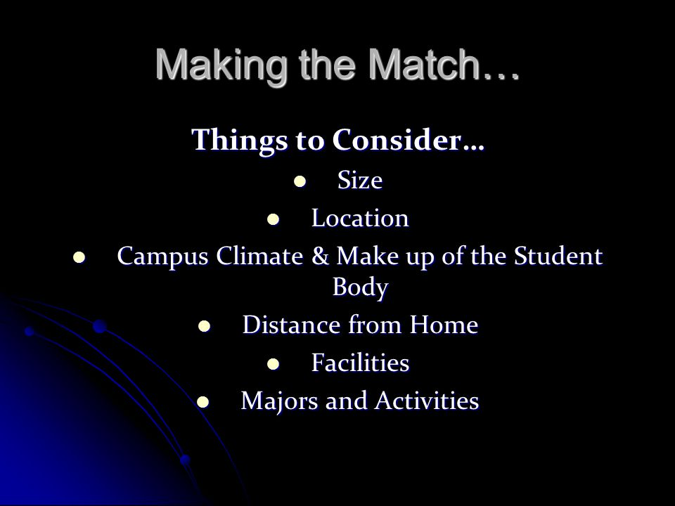Campus Climate & Make up of the Student Body