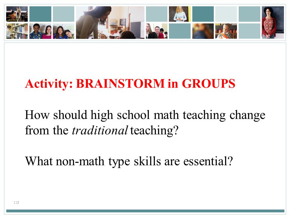 Activity: BRAINSTORM in GROUPS