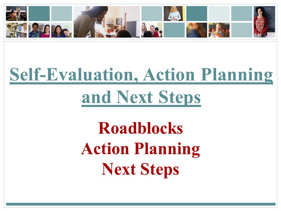 Self-Evaluation, Action Planning and Next Steps