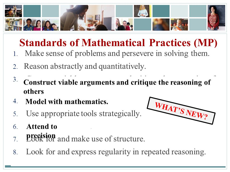 Standards of Mathematical Practices (MP)